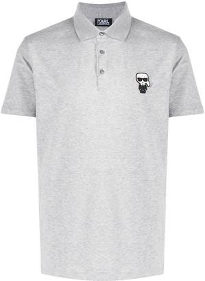 Karl Lagerfeld Paris Ikonik short-sleeved polo shirt
