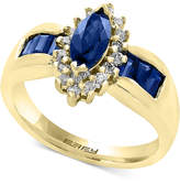 Effy Royalé Blue by Sapphire (1-1/4 ct. t.w.) and Diamond (1/5 ct. t.w.) Ring in 14k Gold