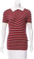 Just Cavalli Striped Short Sleeve Top