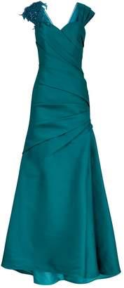 Badgley Mischka Mikado Bow Back Gown