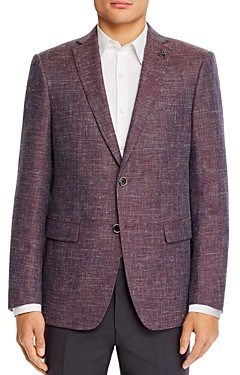 John Varvatos Bleecker Textured Melange Weave Slim Fit Sport Coat