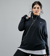 Nike Plus Running Element Sphere Half Zip Jacket In Black
