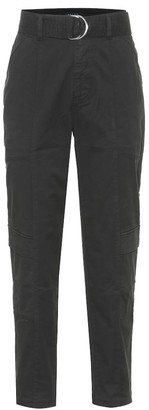 J Brand Athena high-rise stretch-cotton pants