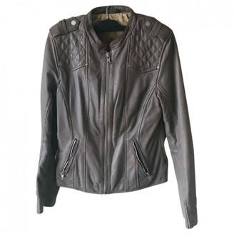 Oakwood Grey Leather Jacket for Women