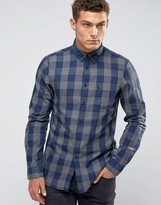 Jack Wills Shirt In Regular Fit In Buffalo Plaid In Navy/Gray