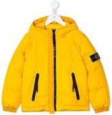 Stone Island Junior compass badge padded jacket