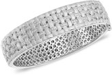 Balissima by EFFY Diamond Basket Weave Bangle (5/8 ct. t.w.) in Sterling Silver