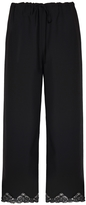 Alexander Wang Cropped Lace Trimmed Pants