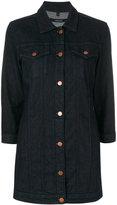 J Brand maxi jacket - women - Cotton/Polyester/Spandex/Elastane - XS