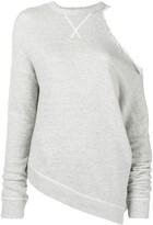 R 13 cut-out shoulder sweatshirt