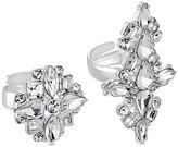 Lipsy Silver Crystal Rings Set