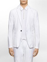 Calvin Klein Platinum Slim Fit Single-Breast Poplin Jacket
