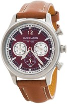 Jack Mason Nautical Chronograph Watch with Leather Band - 36mm (For Women)