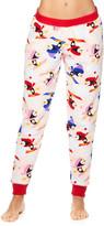 Sleep & Co Women's Sleep Bottoms PALP - Pale Pink Penguin Plush Jogger Pajama Pants - Juniors