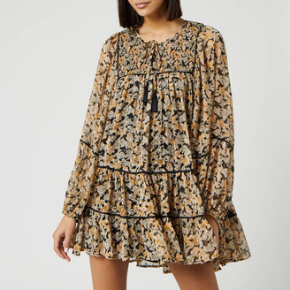 Free People Women's Free Swinging Mini Dress - Black Combo - XS