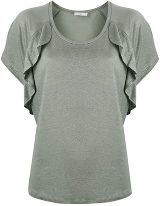Closed ruffle-trimmed T-shirt