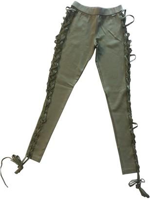 FENTY PUMA by Rihanna Green Cotton Trousers for Women