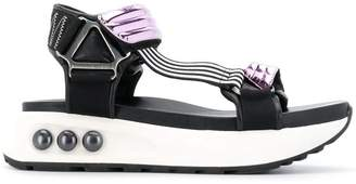 Nicholas Kirkwood NKP3 metallic strap sandals