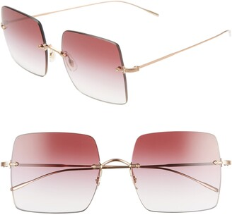 Oliver Peoples Oishe 57mm Gradient Rimless Square Sunglasses