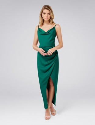 Forever New Holly Cowl Neck Midi Dress - Storm - 10