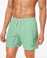Barbour Men's Milton Slim-Fit Green Stripe Swim Trunks