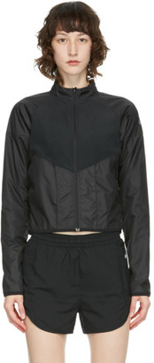 Nike Black Ripstop and Fleece Run Division Jacket