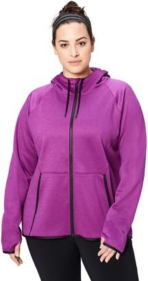 Core 10 Amazon Brand Women's Chill Out Fleece Full-Zip Hoodie (XS-XL Plus Size 1X-3X)