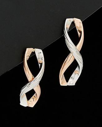 Italian Gold 14K Two-Tone Infinity Earrings
