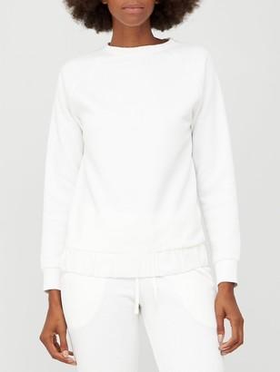 Very Woven Trim Co-ord Sweatshirt - Off White