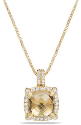 David Yurman Chatelaine Bezel Necklace with Champagne Citrine & Diamonds