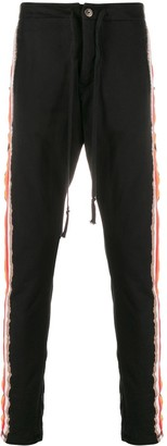 Greg Lauren Striped Slim-Fit Trackpants