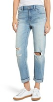 Treasure & Bond Women's Ripped Relaxed Fit Jeans