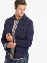 Lucky Brand Plaid Sweater Shirt Jacket