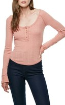 Free People Sugar & Spice Henley Tee