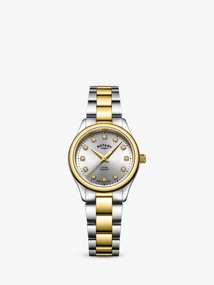 Rotary LB05093/44/D Women's Oxford Diamond Bracelet Strap Watch, Multi