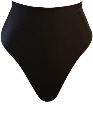 Terra Dea Acapulco Reversible High Waisted Bikini Bottoms Black/White