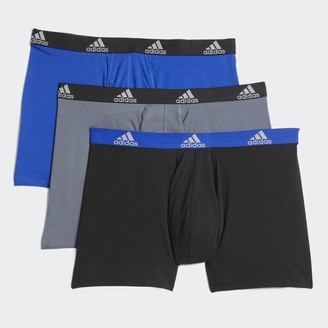 adidas Big & Tall Stretch Boxer Briefs (3-Pack)