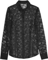 RED Valentino Broderie anglaise silk-organza shirt