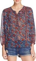 Joie Rosalind Printed Silk Blouse