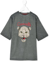 Roberto Cavalli leopard motif t-shirt - kids - Cotton/Elastodiene - 4 yrs