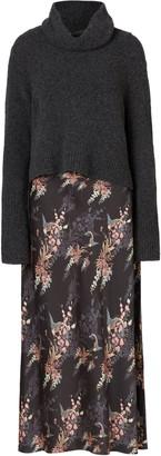 AllSaints Tierny Melisma Floral Slipdress & Sweater