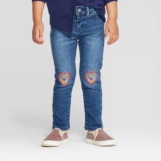 Cat & Jack Toddler Girls' Heart Knee Skinny Jeans - Cat & JackTM