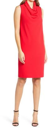 Anne Klein Cowl Neck Shift Dress