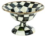 Mackenzie Childs Courtly Check Enamel Compote