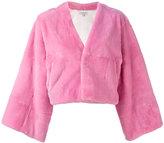 Natasha Zinko cropped jacket - women - Silk/Lamb Fur - 34