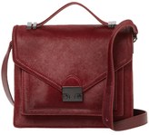 Loeffler Randall Rider Signature Medium Leather & Calf Hair Attache Satchel