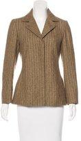 Kenzo Vintage Wool Striped Blazer