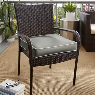"Beachcrest Home Outdoor Sunbrella Dining Chair Cushion Size: 5"" H x 27"" W x 23"" D"