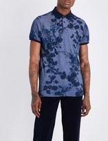 Etro Botanical-print cotton polo shirt