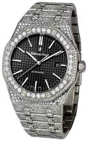 Audemars Piguet Royal Oak Stainless Steel and Diamond Automatic Black Dial Watch